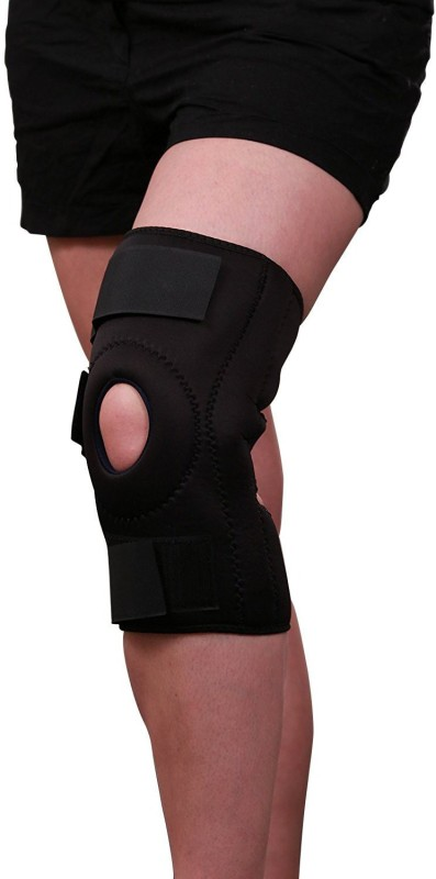 A R Functional Knee Support Joint Protection Open Patella Hinge Support (47.5 cm to 52.5 cm) Knee Support (XXL, Black)
