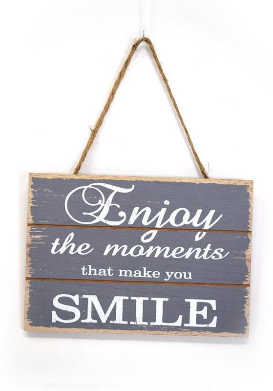 Scrafts Grey Wooden Decorative Wall Hanging For Home/Restuarent/Hotel/Bar Use Sign(1)