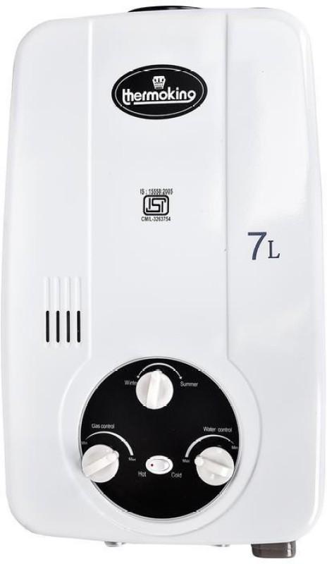 THERMOKING 7 L Storage Water Geyser(White, GAS WATER HEATER WHITE 7 LTR)