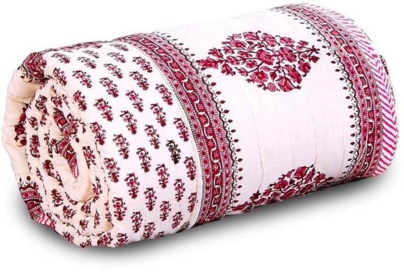 Shopping Store Floral Double Quilt, Comforter Multicolor(1 Quilt)