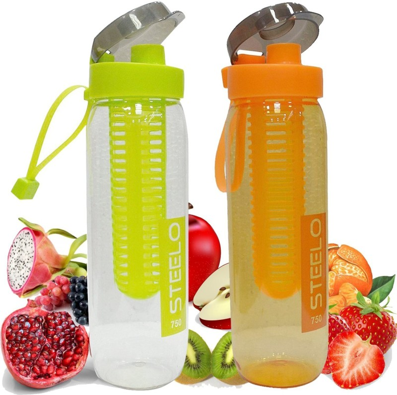 Steelo Sante fruit Infuser 750 ml Bottle(Pack of 2, Multicolor)