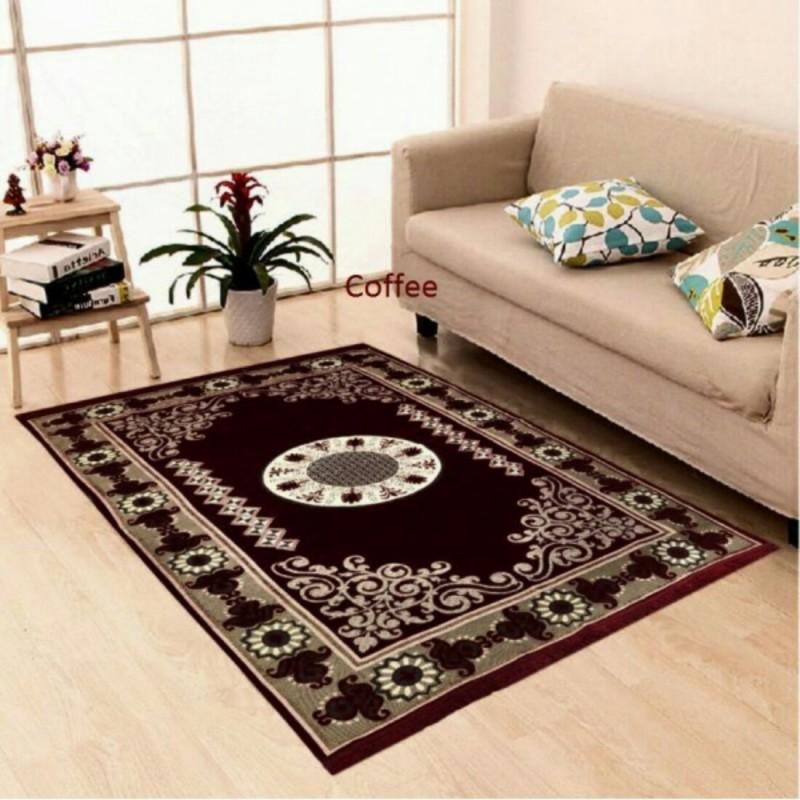 The Real Time Trendz Multicolor Chenille Carpet(155 cm X 215 cm)