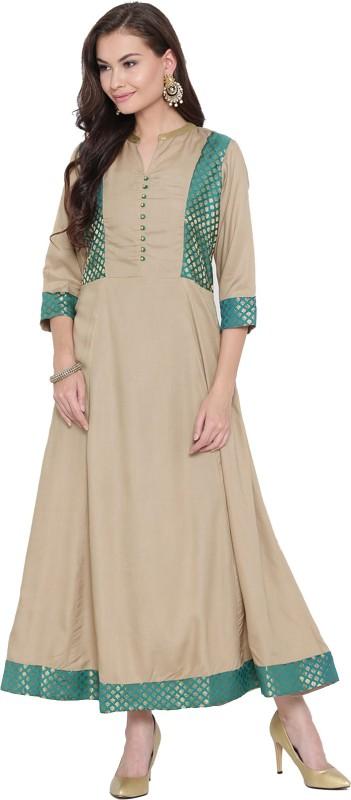 Shree Women Maxi Beige Dress
