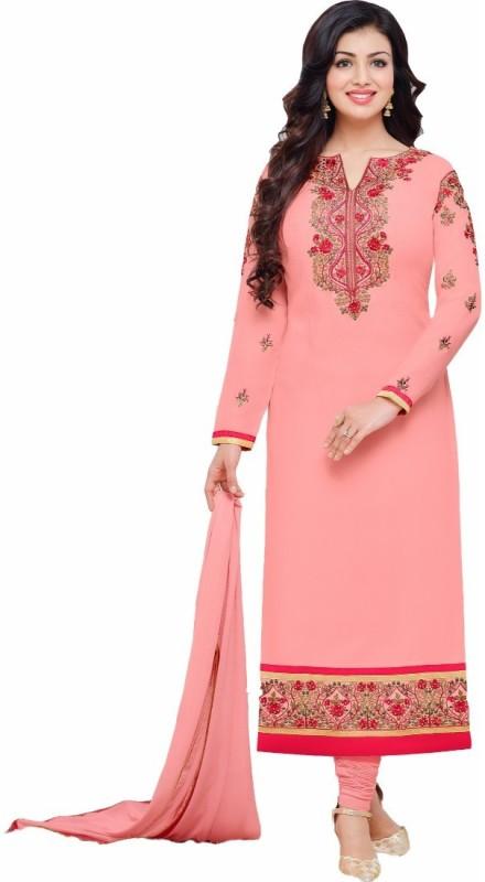 Divastri Georgette Embroidered Salwar Suit Dupatta Material(Un-stitched)