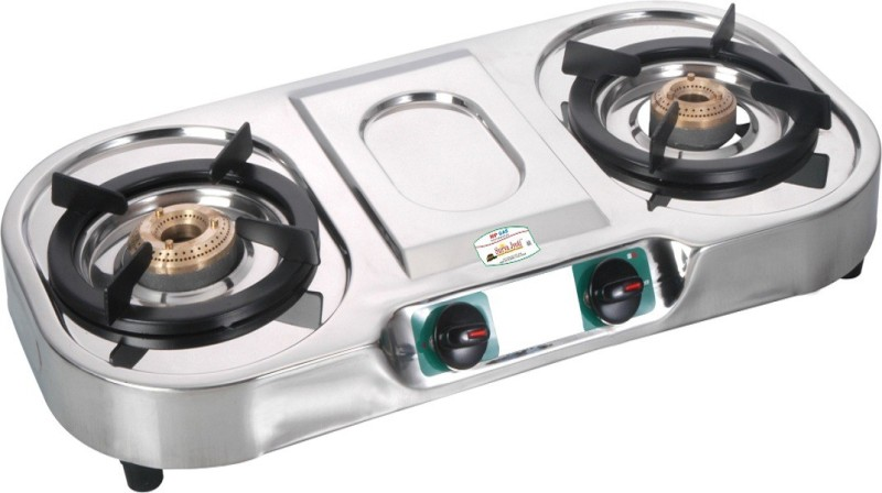 GOLDEN SURYA Stainless Steel Manual Gas Stove(2 Burners)