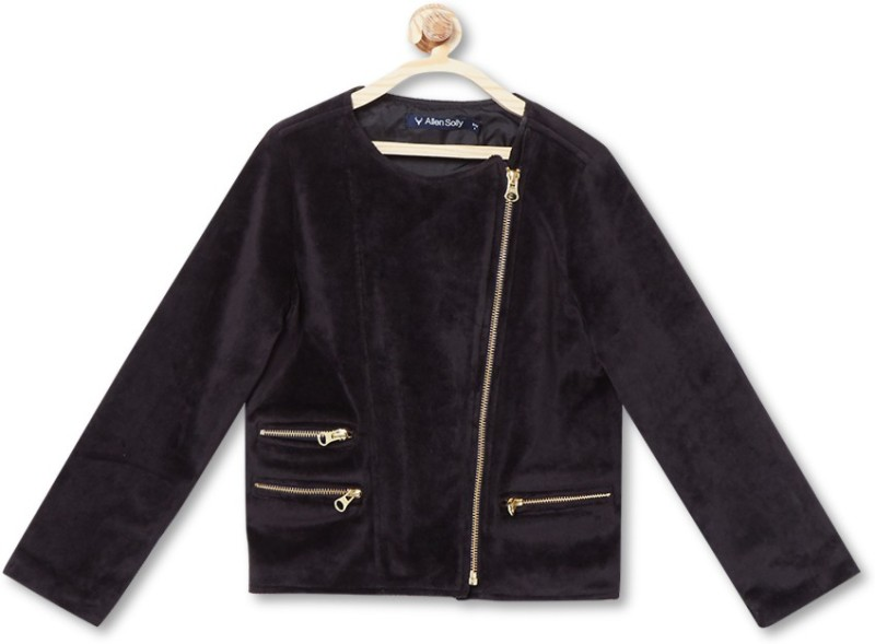 Allen Solly Full Sleeve Solid Girls Jacket