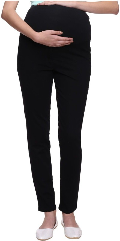 Mammas Maternity Slim Womens Black Jeans