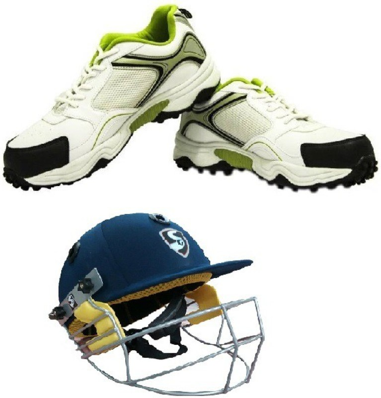 SG Combo of Two, one Pair Club Cricket Studd (Color On Availability) and one Smartech Helmet- Cricket Kit