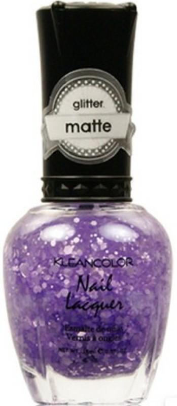 KleanColor Glitter Matte Nail Lacquer Playful Lavender(15 ml)
