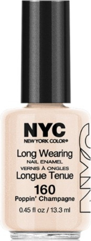 Nyc (3 Pack) Long Wearing Nail Enamel Poppin Champagne(13.3 ml, Pack of 3)