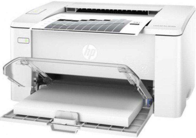 HP LaserJet M104a Mono Laser Printer with {Cartridge} Single Function Printer(White, Toner Cartridge)