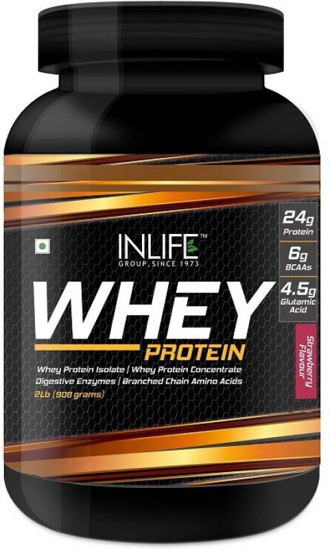 Inlife 2Lb Whey Protein(908 g, Strawberry)