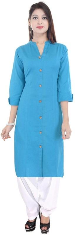 VAIDIKI Embellished, Solid Kurti & Patiyala(Stitched)