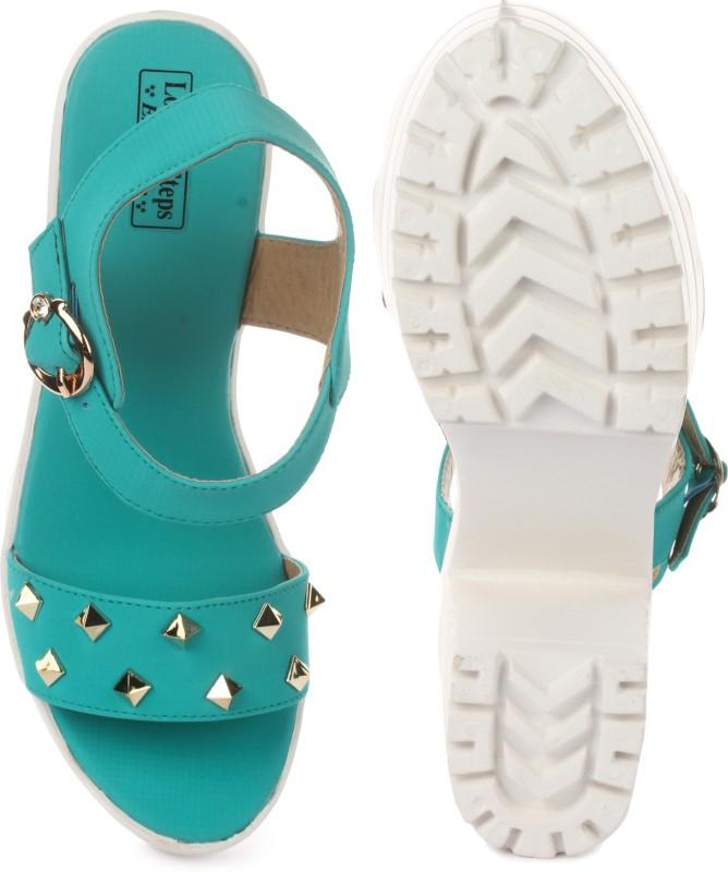 London Steps Women Sea Green Heels