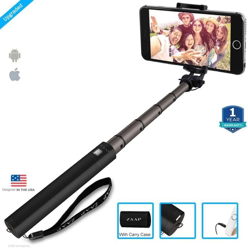 Zaap Bluetooth Selfie Stick(Black)