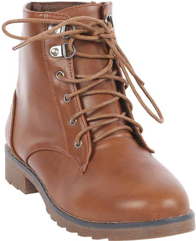 Swagg Brown Leather Boots with Laces BootsBrown