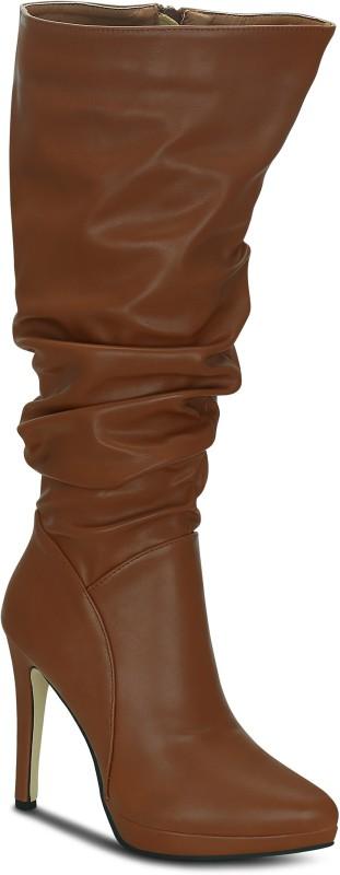 Kielz Tan-Synthetic-Women-Boots Boots For Women(Tan)