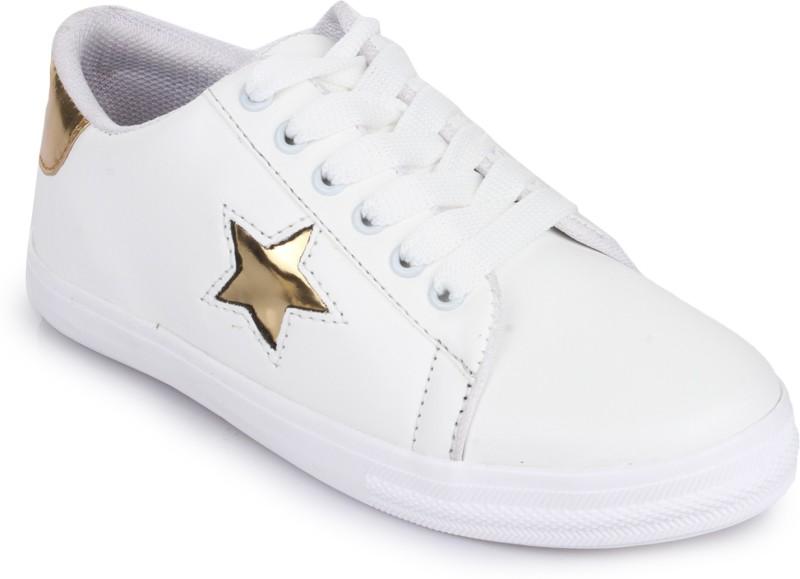 Style Panda White Golden Star SneakersWhite