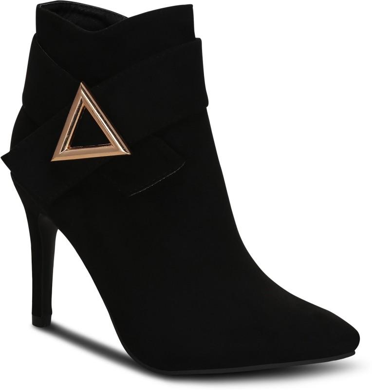 Kielz Black-Suede-Women-Boots Boots For Women(Black)