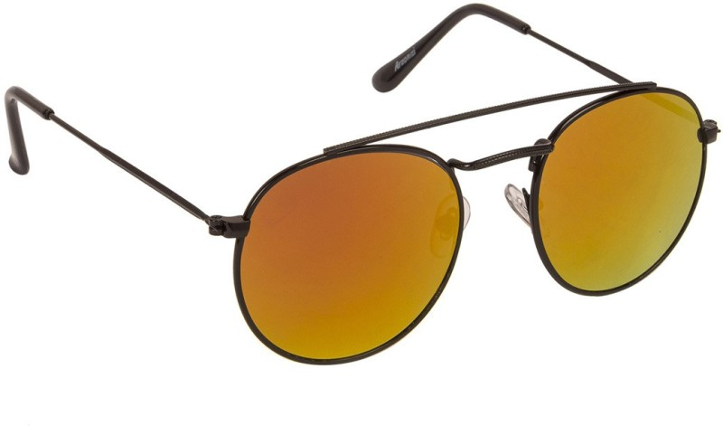 Arzonai Round Sunglasses(Orange) image