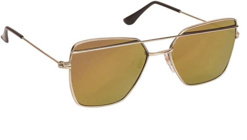 Arzonai Retro Square Sunglasses(Yellow) image