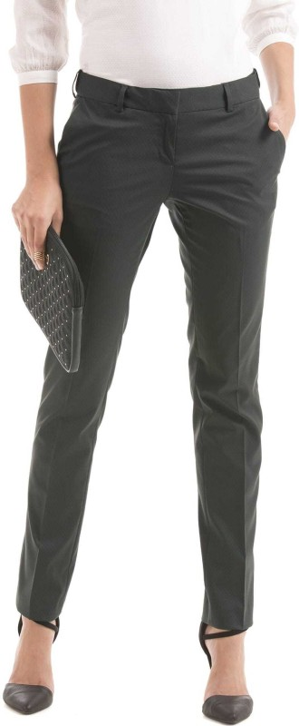 Arrow Slim Fit Women Grey Trousers
