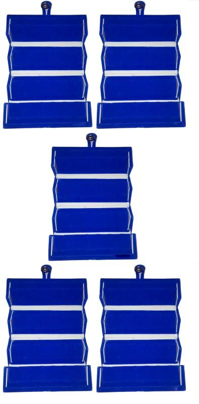 Funkroo Pack of 5 blue Earring folder Studs Tops jewelry cosmetic case Vanity Box makeup Vanity Box(Blue)