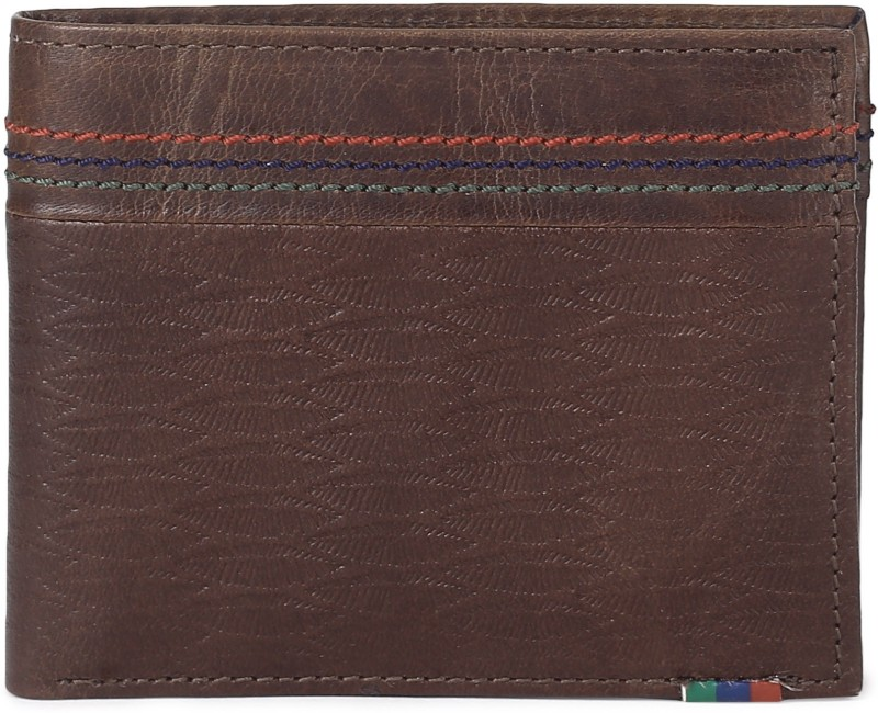 Peter England Men Brown Genuine Leather Wallet(4 Card Slots)