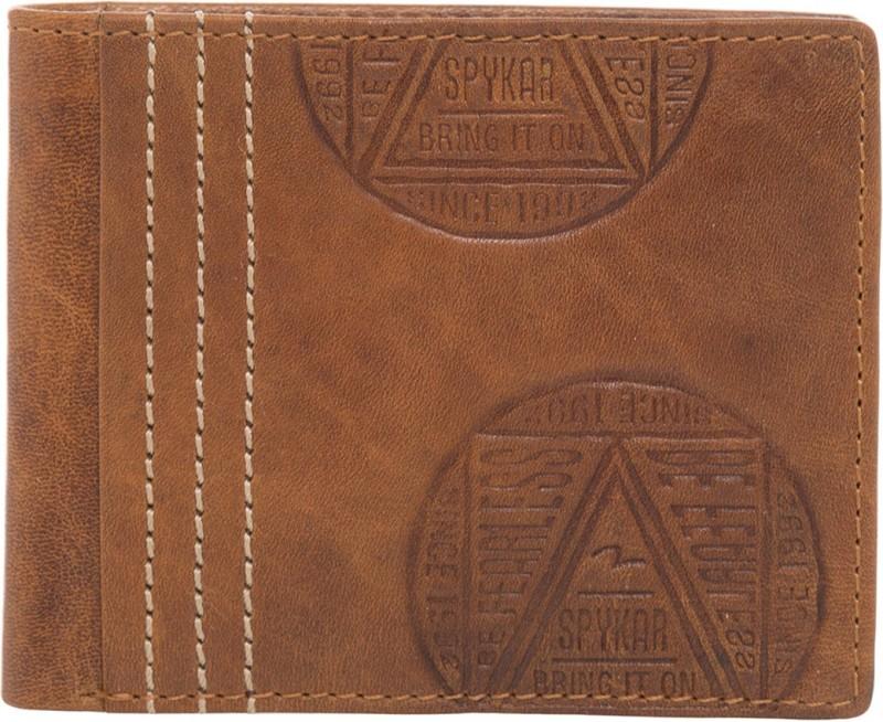 Spykar Men Tan Genuine Leather Wallet(8 Card Slots)