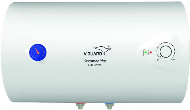 V-Guard 25 L Storage Water Geyser (Steamer Plus ECH, White)