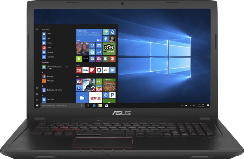 Asus FX553 Core i7 7th Gen - (8 GB/1 TB HDD/Windows 10/4 GB Graphics/NVIDIA Geforce GTX 1050Ti) FX553VE-DM318T Gaming Laptop(15.6 inch, Black, 2.5 kg)