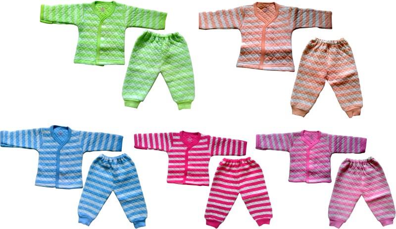 Xchildhood Top - Pyjama Set For Boys & Girls(Multicolor, Pack of 5)