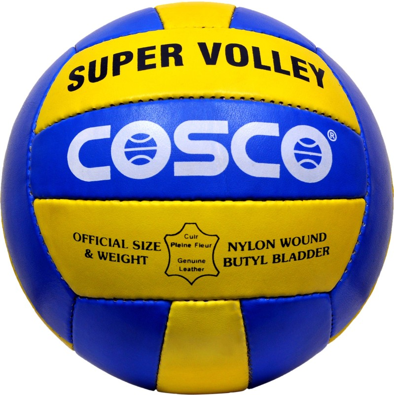 Cosco STC Super Volleyball - Size: 4(Pack of 1, Blue, Yellow)