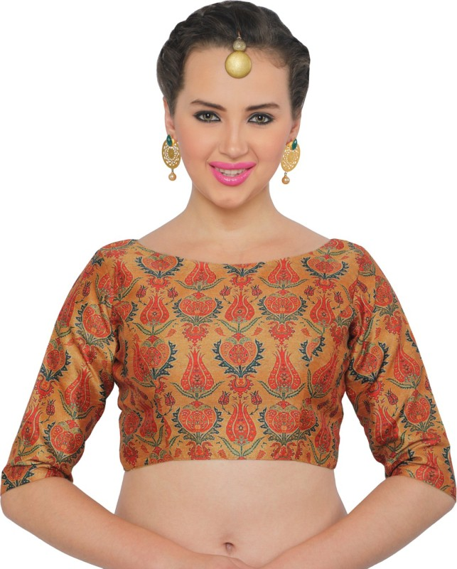 Studio Shringaar Boat Neck Women Stitched Blouse