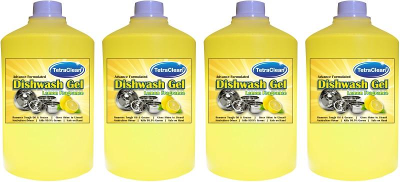 Tetraclean 4 Dish Cleaning Gel(Fresh Lemon, 4 x  1 L)