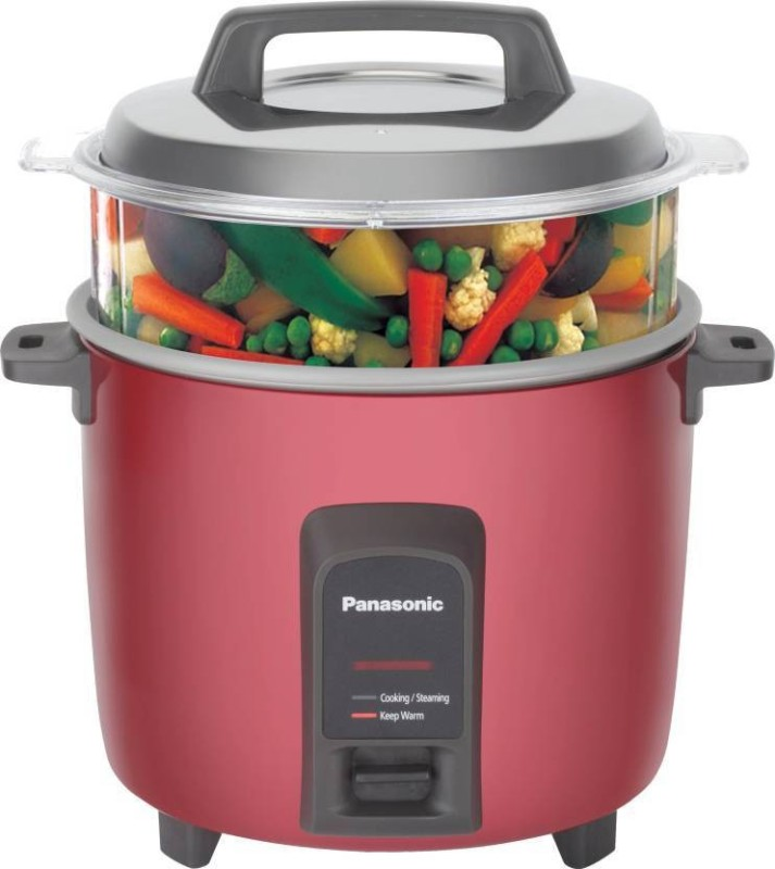 Panasonic SR-Y18FHS(E)B Electric Rice Cooker(4.4 L, Burgundy)