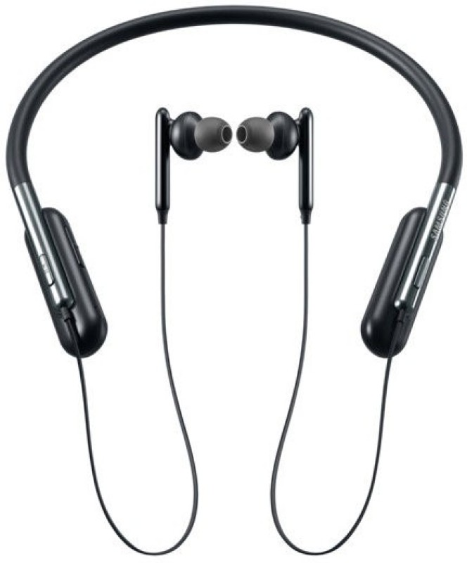 Samsung U Flex Bluetooth Headset with Mic(Black, In the Ear)