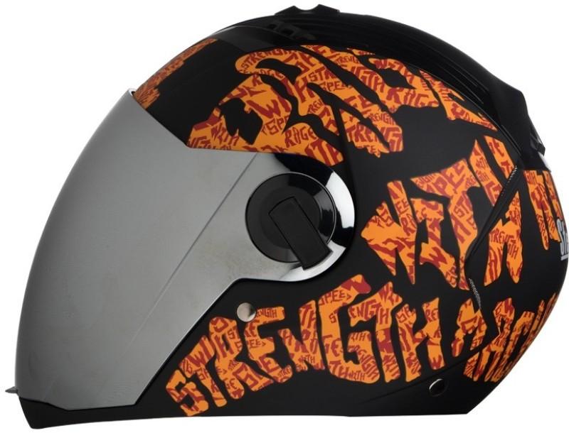 Steelbird AIR SBA-2 Strength Motorbike Helmet(Black with Orange)