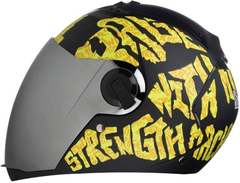 Steelbird AIR SBA-2 Strength Motorbike Helmet(Black with Yellow)