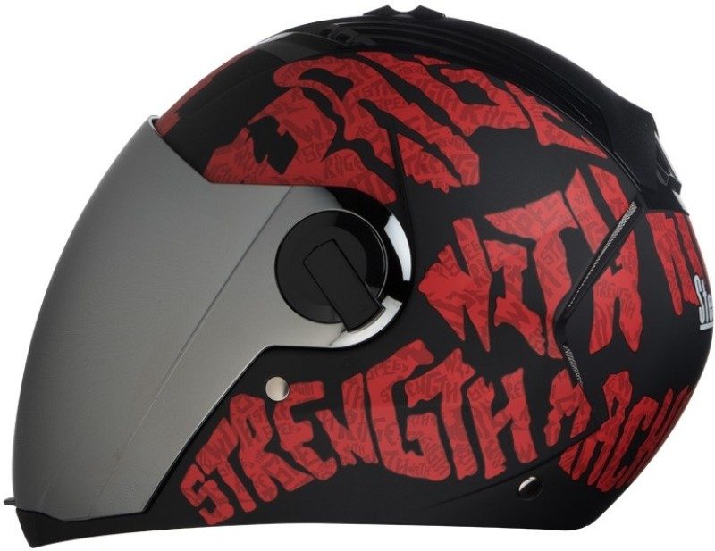 Steelbird AIR SBA-2 Strength Motorbike Helmet(Black with Red)