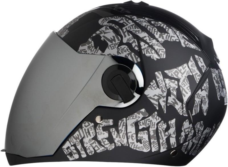 Steelbird AIR SBA-2 Strength Motorbike Helmet(Black with Silver)
