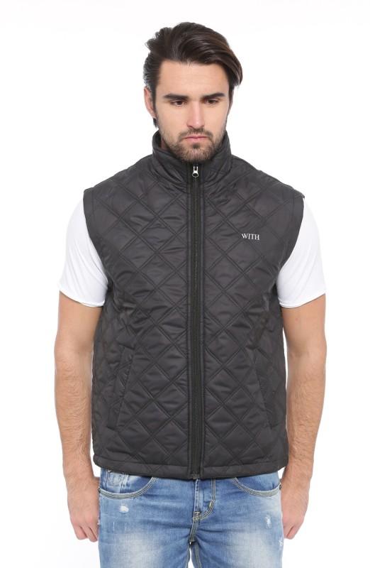 Showoff Sleeveless Solid Men Jacket