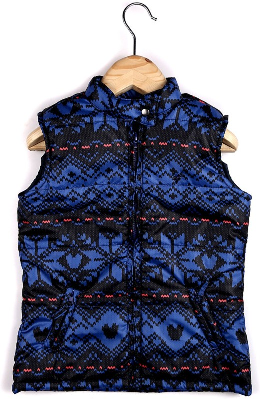Allen Solly Sleeveless Printed Girls Jacket