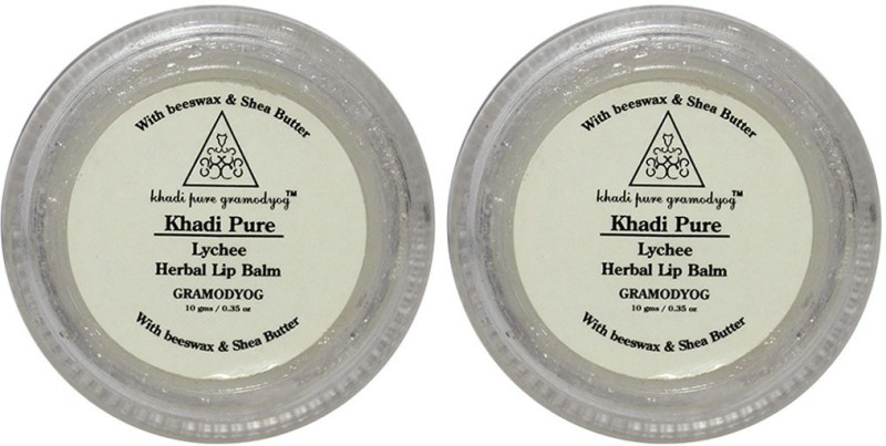 Khadi Pure Herbal Lychee Lip Balm Fruity(20 g)