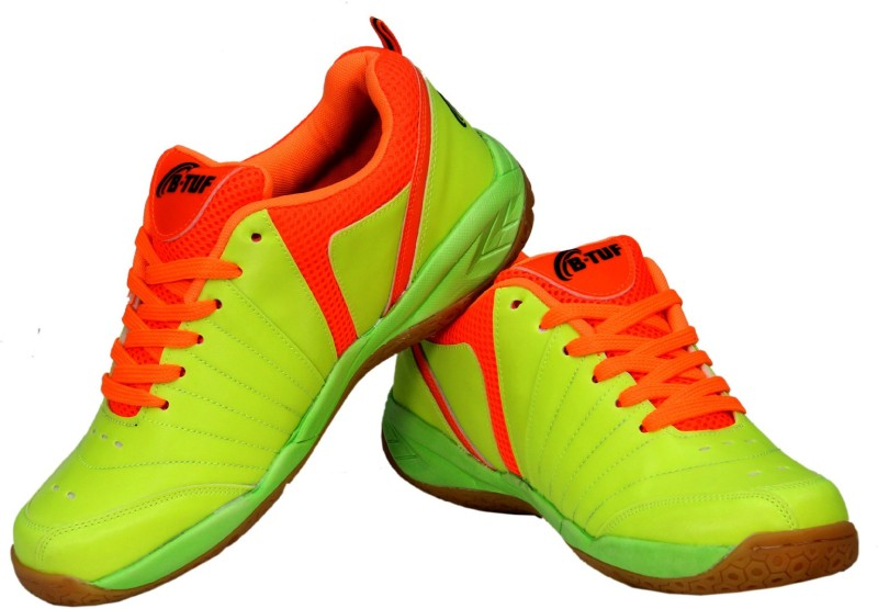 B-TUF FIRE Badminton Shoes For Women(Green, Orange)