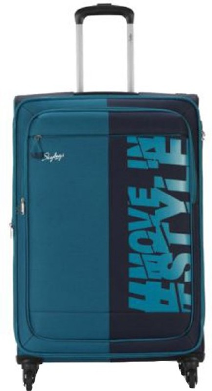 Skybags Tanslite Expandable Cabin Luggage - 22 inch(Blue)