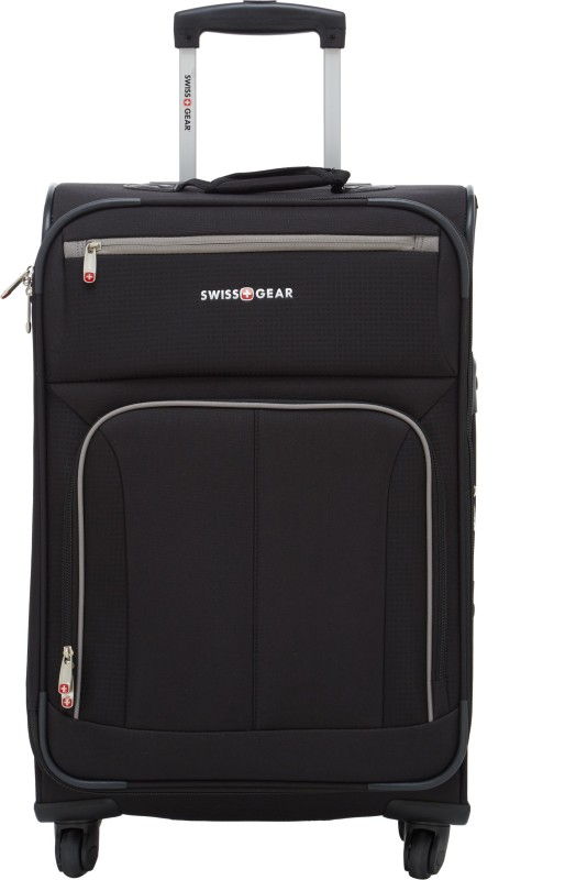 Swiss Gear ��� 24 Spinner Black/Grey Expandable Check-in Luggage - 24 inch(Black)