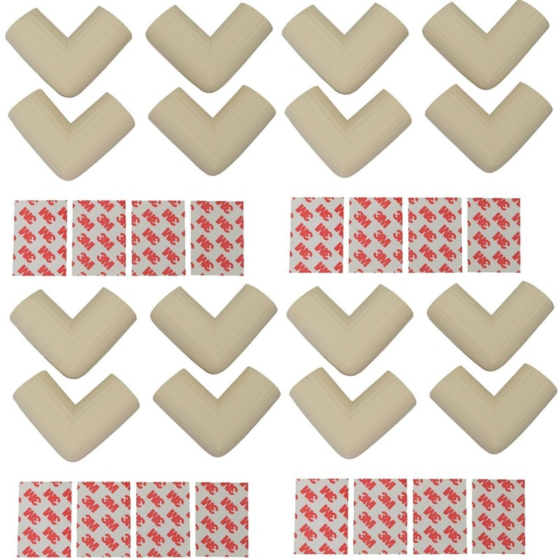 babycorner 16 Pcs Child Safety Corner Guards for Furniture, Dining Table, Side Table, Bed Corners (WHITE Colour) 16 Pieces(White)