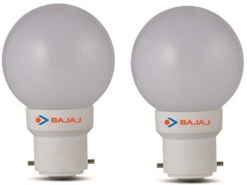 Bajaj 0.5 W Round B22 LED Bulb(White, Pack of 2)
