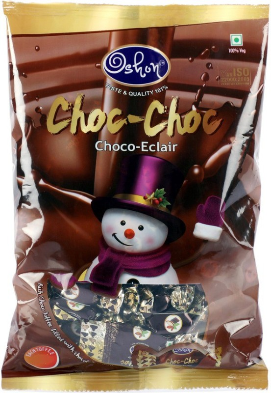 Oshon Choc-Choc Choco Eclair, 115 Pieces Pouch Chocolatey Toffee(0.475)